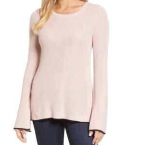 Vince Camuto Tipped Bell Sleeve Sweater Size 1X